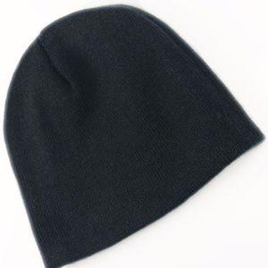 MENS WOMENS UNISEX BLACK BEANIE WINTER HAT